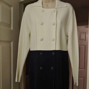 Tommy Hilfiger Button-Down Sweater Coat Large
